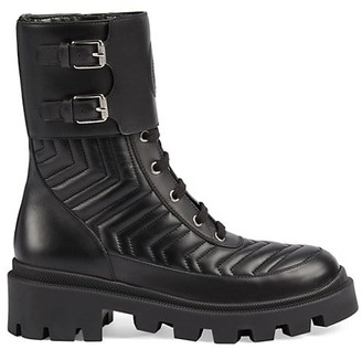 Gucci Women's Leather Boots with Interlocking G
