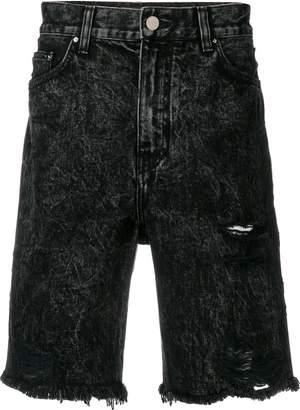 Amiri acid wash shorts
