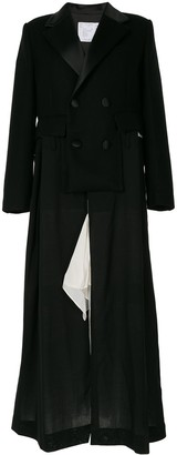 Sacai Fitted Double-Breasted Coat