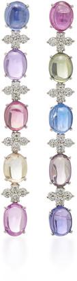 Gioia Bini 18K White Gold, Sapphire And Diamond Earrings