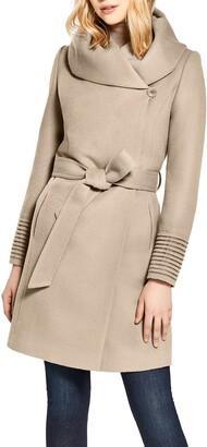 Sentaler Hooded Alpaca & Wool Wrap Coat