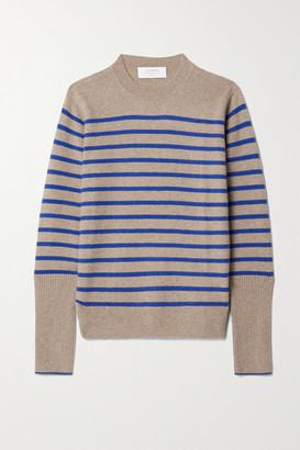 La Ligne Aaa Lean Lines Striped Cashmere Sweater - Sand
