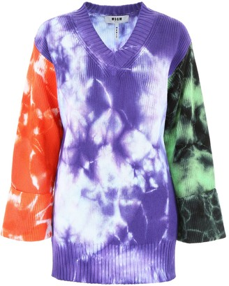 MSGM Tie-Dye Oversized Sweater
