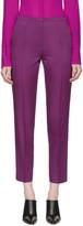 Nina Ricci Purple Cropped Trousers