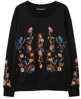 Violeta BY MANGO Floral embroidered sweatshirt