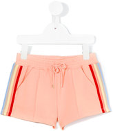 Chloé Kids - stripe trim shorts - kids - Cotton/Spandex/Elastane - 8 yrs