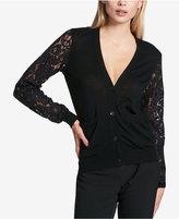 DKNY Lace-Sleeve Cardigan