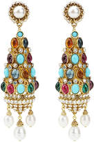 Ben-Amun Byzantine Pearl Statement Earrings