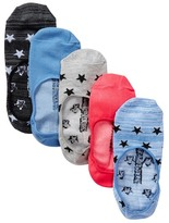 Steve Madden Assorted Star Print Footies - Pack of 5