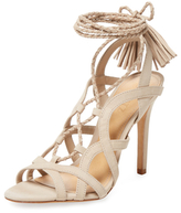 Schutz Mendel Braided Leather Lace-Up Sandal