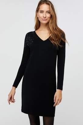 Monsoon Womens Black Hetty Sustainable Viscose Hotfix Dress - Black