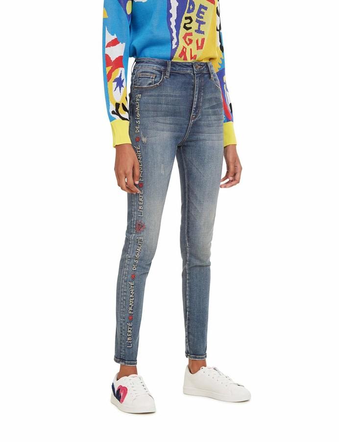 Desigual Women's Trousers Fraternite Skinny Jeans