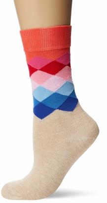 Happy Socks Women's Faded Diamond Sock