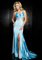 Jasz Couture - 3027 Dress in Turquoise