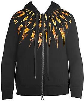 Neil Barrett Men's Flame Graphic Zipper Hoodie