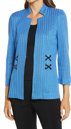 Ming Wang Side Laced Sweater Jacket