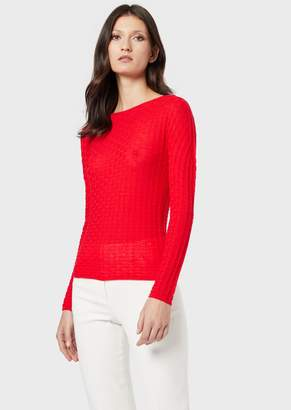 Giorgio Armani Virgin Wool, Tuck-Stitch Jumper
