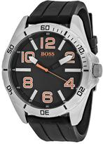 HUGO BOSS Orange 1512943 Men's Black Silicone and Stainless Steel Watch