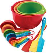 Fiesta Silicone & Plastic 15-Pc. Prep & Serve Set