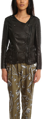 3.1 Phillip Lim Studded Ruffle Leather Jacket