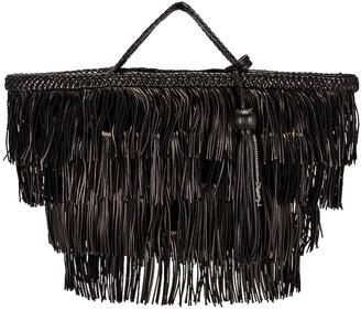 Saint Laurent Panier Fringe Bag in Black | FWRD