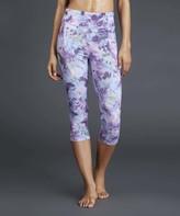 Zobha Sparkling Grape Louie Capri Leggings
