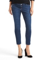 Gap Maternity inset panel true skinny ankle jeans