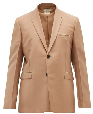 Bottega Veneta Single-breasted Mohair-blend Blazer - Camel