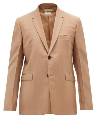 Bottega Veneta Single-breasted Mohair-blend Blazer - Mens - Camel