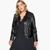 La Redoute Collections Plus Faux Leather Biker Jacket