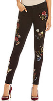 Buffalo David Bitton Embroidered Faith Skinny Jeans