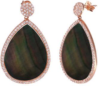 GABIRIELLE JEWELRY Silver Pearl & Cz Earrings
