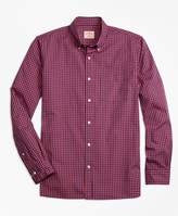 Brooks Brothers Gingham Batiste Oxford Sport Shirt
