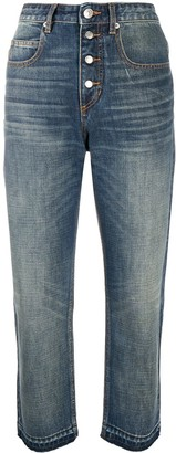 Etoile Isabel Marant Belden high rise cropped jeans