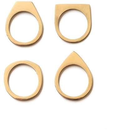 Soko Women's Cosmic Stacking Ring - Size N