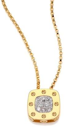 Roberto Coin Pois Moi Diamond & 18K Yellow Gold Small Pendant Necklace