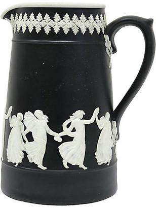One Kings Lane Vintage Antique Jasperware Dancing Hour Milk Jug - THE QUEENS LANDING