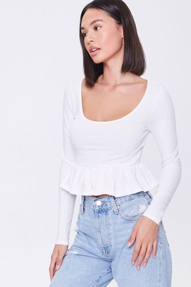 Forever 21 Peplum Long-Sleeve Top