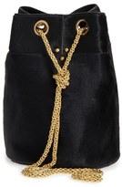Jerome Dreyfuss 'Small Popeye' Genuine Calf Hair Bucket Bag - Black