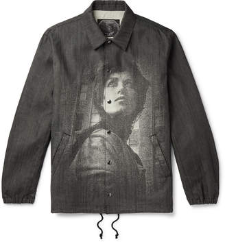 Undercover + Cindy Sherman Printed Embroidered Denim Coach Jacket