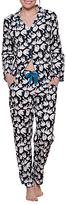 Cyberjammies Clara Swan Print Pyjama Set, Black/White