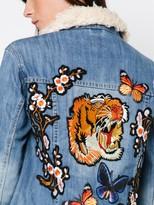 MinkPink Tiger Blossom Denim Jacket
