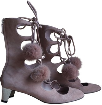 Gucci Arielle Pink Suede Ankle boots