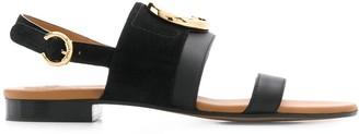 Chloé C plaque sandals