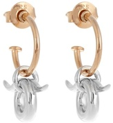 Charlotte Chesnais Mini Horn silver and gold-plated earrings
