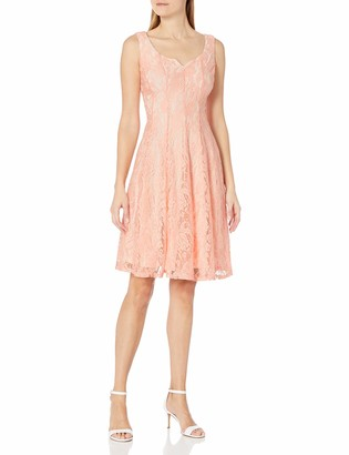 Julian Taylor Women's All Over Lace A-Line Dress