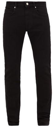 Versace Sunglasses-embroidered Skinny-leg Jeans - Mens - Black