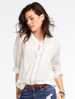 Victoria's Secret Crochet-trim Shirt