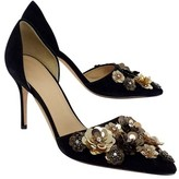 J.Crew J. Crew Collection Suede Floral Embellished Pumps