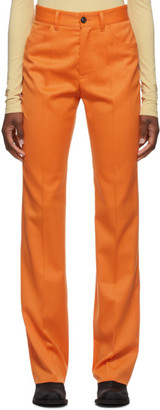 MM6 MAISON MARGIELA Orange Five Pocket Trousers